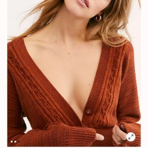 🍒NWT🍒 FREE PEOPLE KNIT CARDIGAN